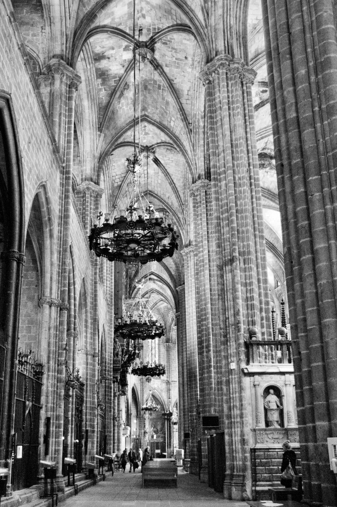 Inside the magnificent gothic cathedral.