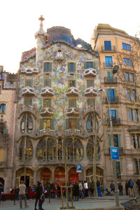 A Barcelona building in the Modernista style.