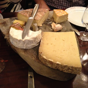 Cheese plate at Le Bistrot Paul Bert