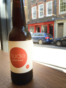 Nude espresso cold brew in a bottle.