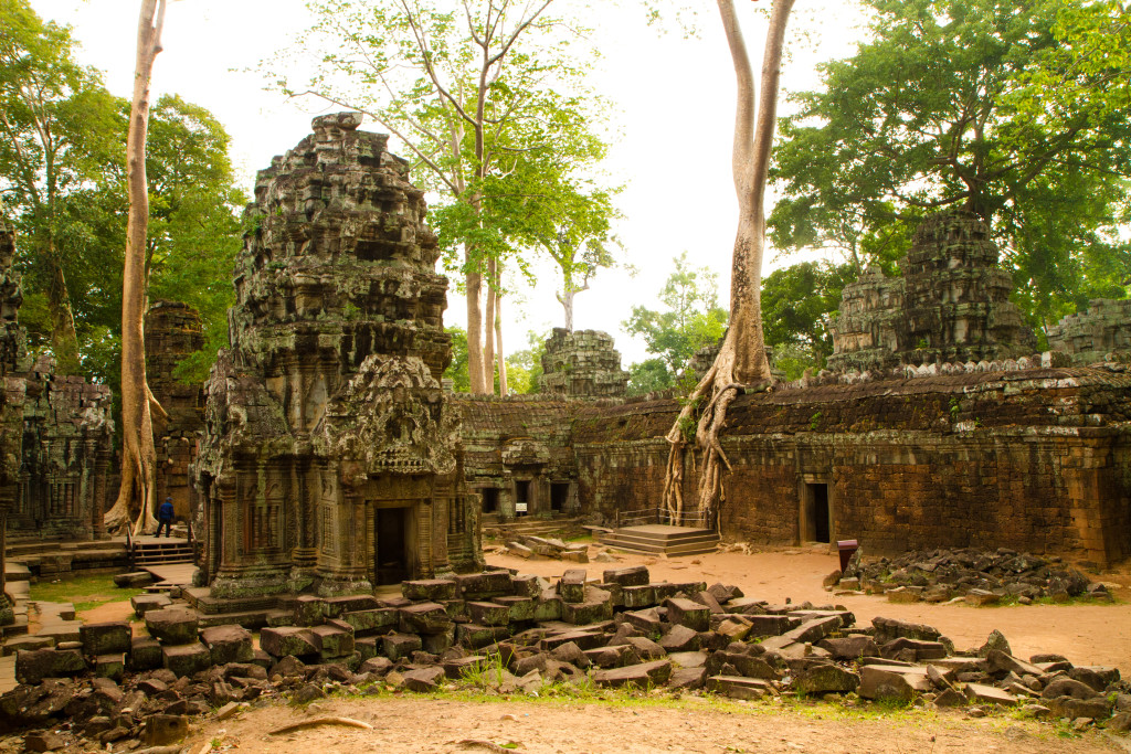 Ta Prohm temple was built as a Buddhist complex.