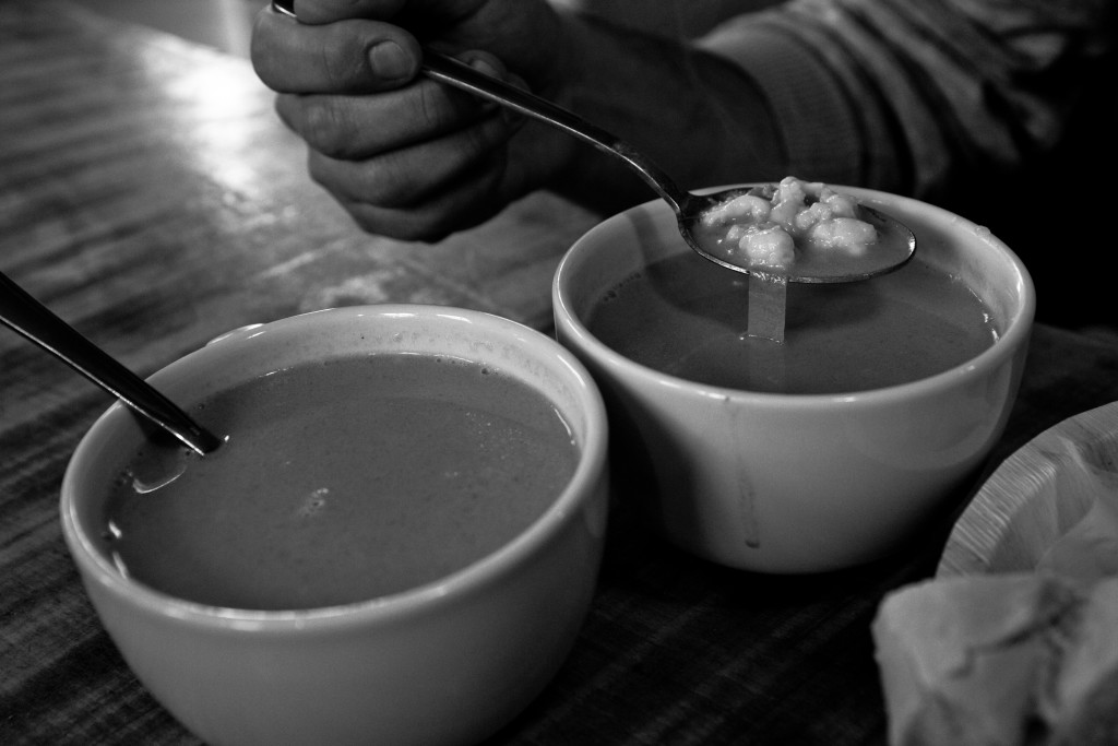 We grabbed hot and fresh langusta soup from the local fish cafe near the docks.