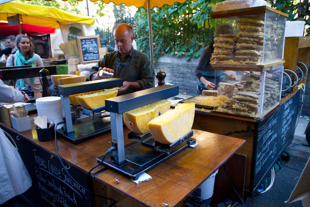 Raclette in Borough Market