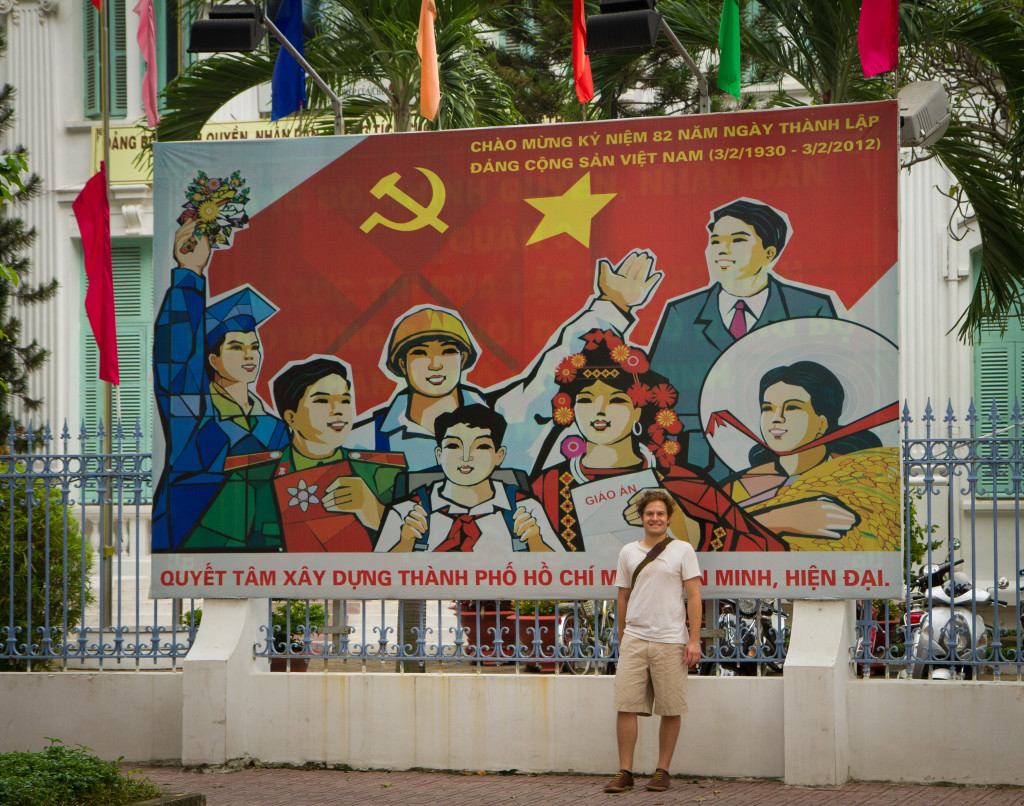 There is Communist propoganda everywhere in Ho Chi Minh City.