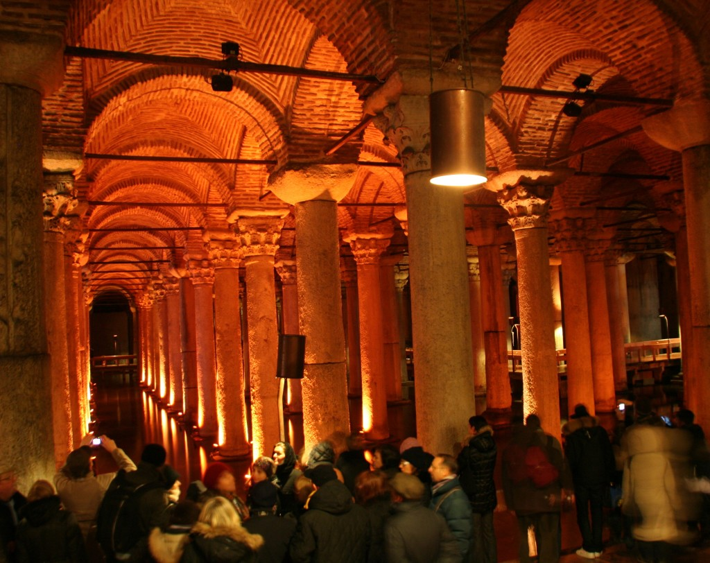 The Underground Cistern, built by the Romans to hold the city's water